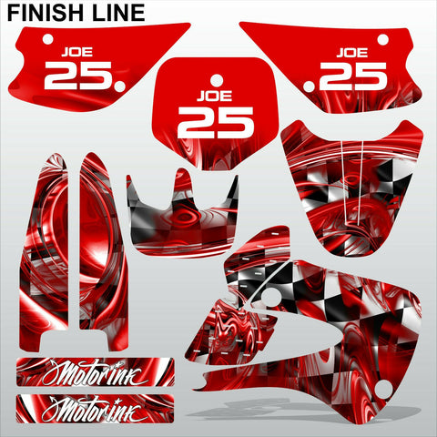 Kawasaki KX 85-100 2001-2012 FINISH LINE motocross decals set MX graphics kit