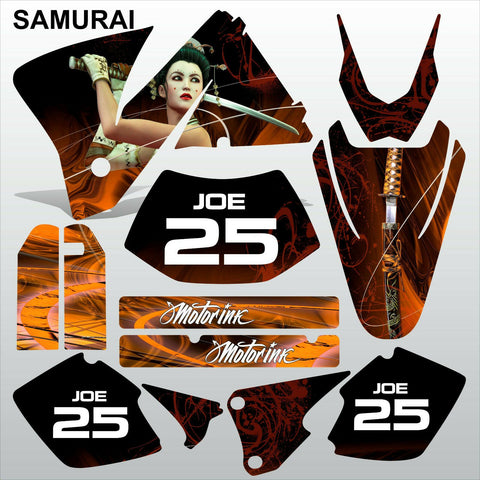 KTM EXC 2001-2002 SAMURAI motocross decals stripes racing set MX graphics kit