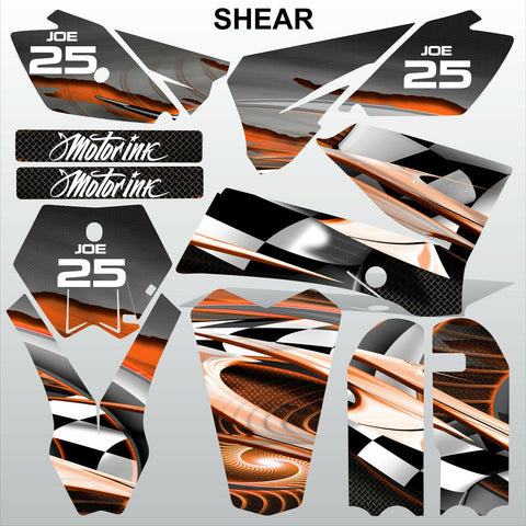 KTM SX 85-105 2006-2012 SHEAR motocross racing decals set MX graphics kit