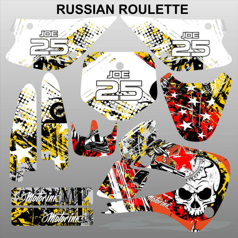 Kawasaki KX 85-100 2001-2012 RUSSIAN ROULETTE motocross decals set MX graphics