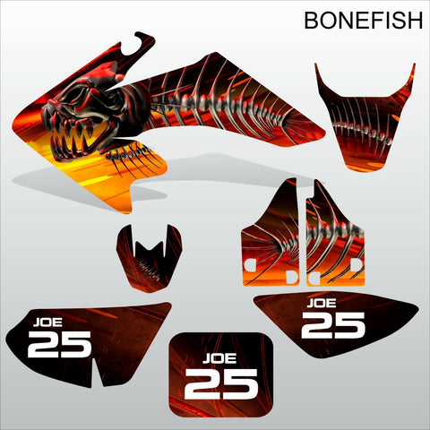 Honda CRF 50 2004-2016 BONEFISH motocross decals set MX graphics kit