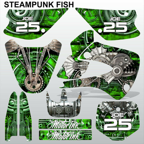 Kawasaki KX 85-100 2001-2012 STEAMPUNK FISH motocross racing decals MX graphics