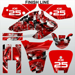 Honda XR 70 2001-2003 FINISH LINE racing motocross decals set MX graphics kit