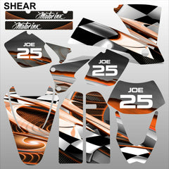 KTM EXC 2003 SHEAR motocross decals racing stripes set MX graphics kit