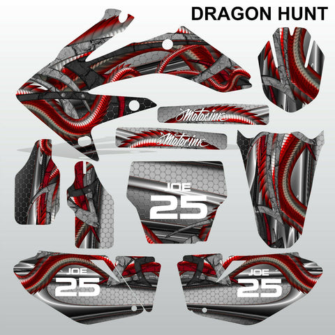 Honda CRF 250 2006-2007 DRAGON HUNT motocross decals MX graphics kit