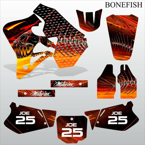 Honda CR125 CR250 1995-1997 BONEFISH motocross decals set MX graphics kit