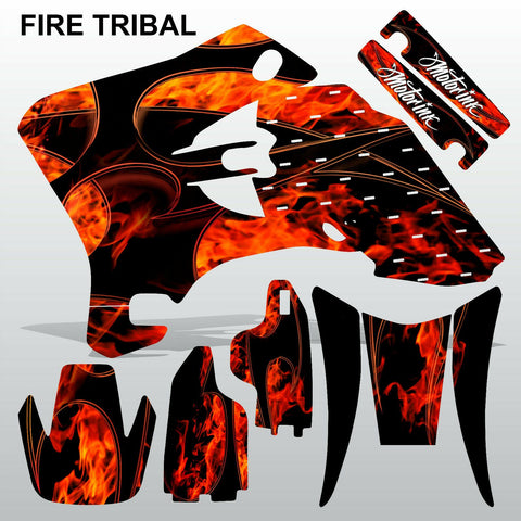 Yamaha WR 250F 450F 2005-2006 FIRE TRIBAL motocross decals set MX graphics kit