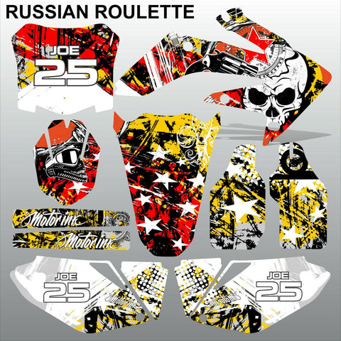 Honda CRF 250 2008-2009 RUSSIAN ROULETTE race motocross decals MX graphics kit