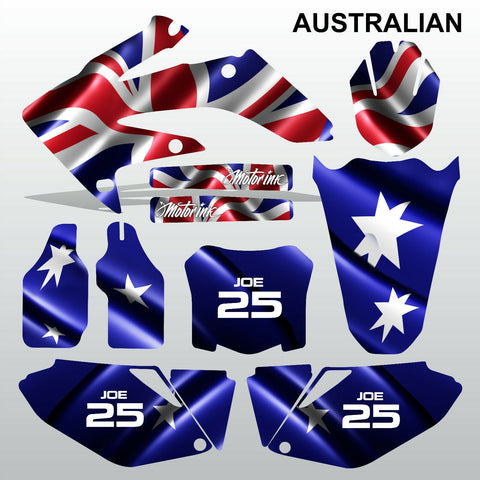 Honda CRF 250 2008-2009 AUSTRALIAN motocross decals MX graphics kit