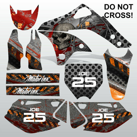 Kawasaki KXF 250 2006-2008 DO NOT CROSS! motocross decals set MX graphics kit
