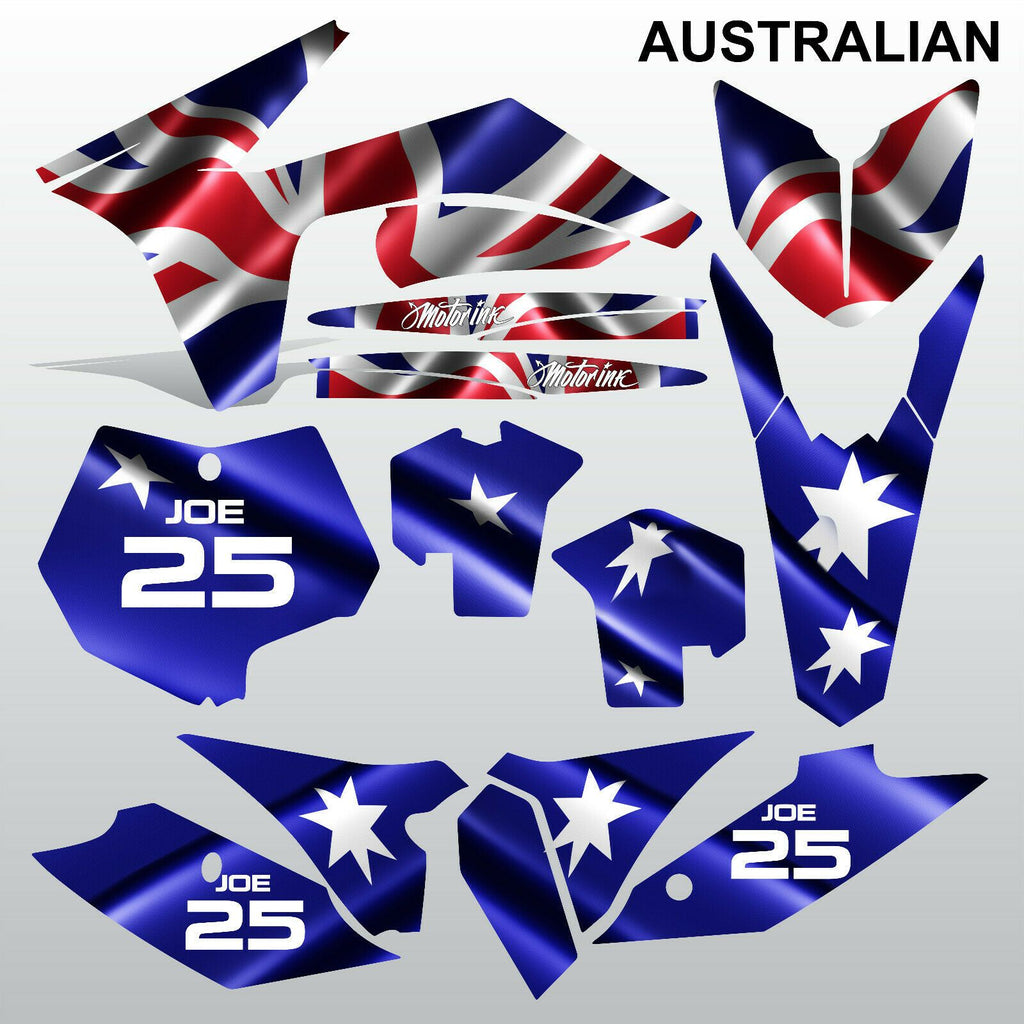 KTM SX 2011 2012 AUSTRALIAN motocross racing decals stripes set MX graphics