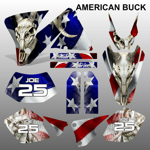 KTM EXC 2001-2002 AMERICAN BUCK motocross decals  stripes set MX graphics kit
