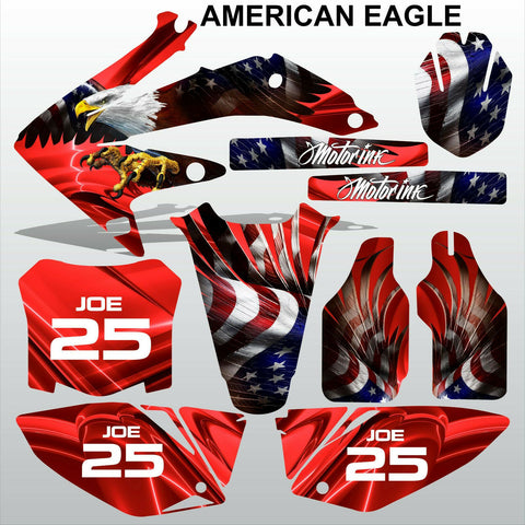 Honda CRF 450 2008 AMERICAN EAGLE racing motocross decals set MX graphics kit