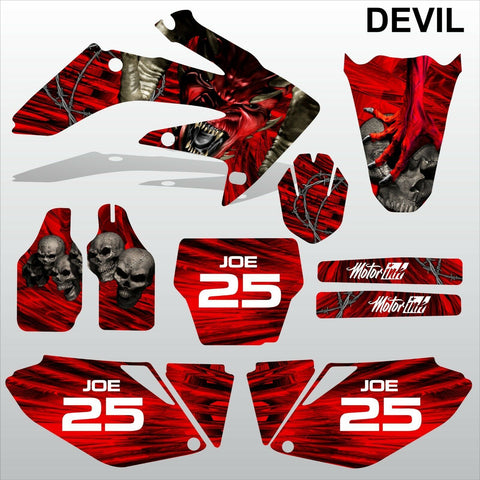 Honda CRF 250 2006 2007 DEVIL PUNISHER SKULL motocross decals MX graphics kit
