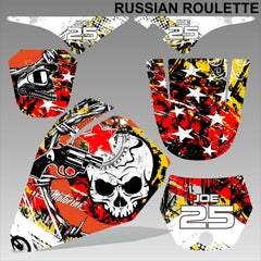 Yamaha PW80 RUSSIAN ROULETTE motocross racing decals set MX graphics kit