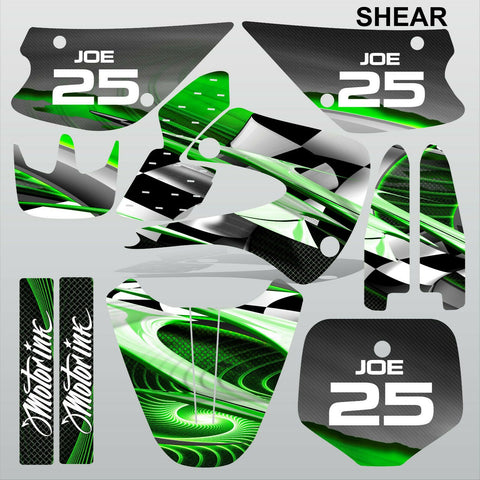 Kawasaki KX 85-100 2001-2012 SHEAR motocross racing decals set MX graphics kit