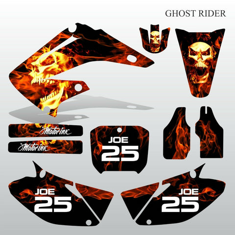Honda CR125 CR250 02-07 GHOST RIDER motocross decals set MX graphics kit