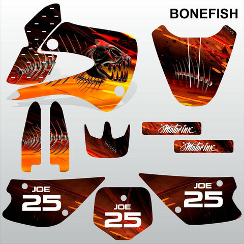 Kawasaki KX 85-100 1998-2012 BONEFISH motocross decals set MX graphics kit