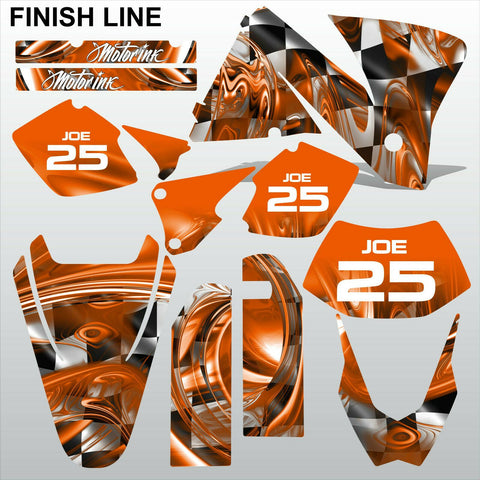 KTM EXC 2001-2002 FINISH LINE motocross decals stripes race set MX graphics kit