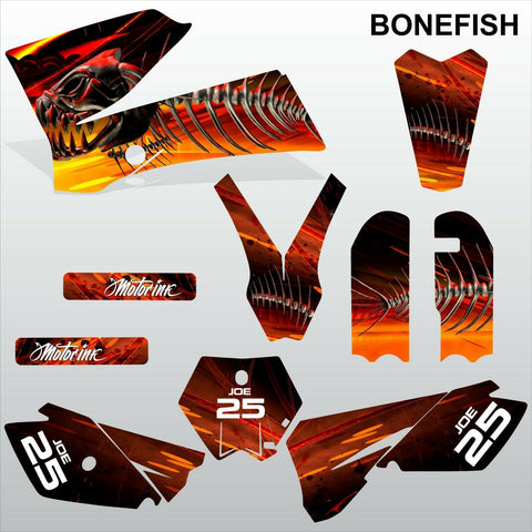 KTM SX 85-105 2006-2012 BONEFISH motocross racing  decals set MX graphics kit