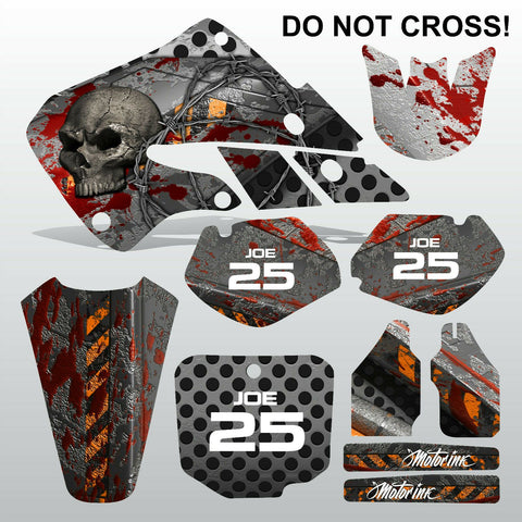 Honda CR125 CR250 1998 1999 DO NOT CROSS motocross decals set MX graphics kit