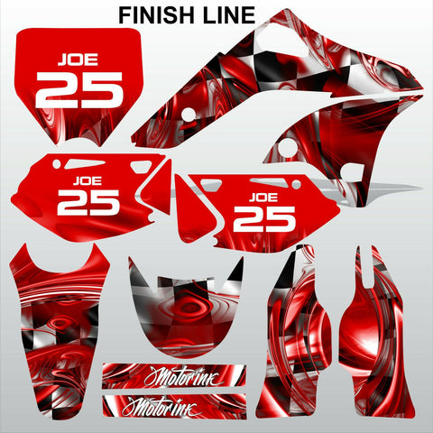Kawasaki KXF 250 2006-2008 FINISH LINE motocross race decals set MX graphics kit