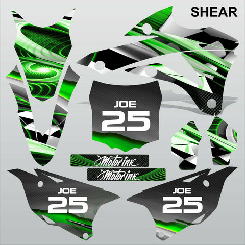Kawasaki KX 85-100 2014-2015 SHEAR motocross racing decals set MX graphics kit