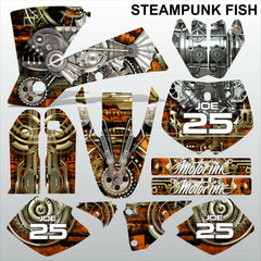 KTM SX 2001-2002 STEAMPUNK FISH motocross racing decals racing set MX graphics