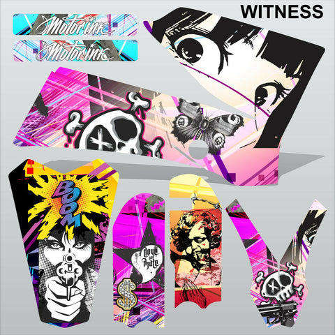 KTM SX 85-105 2006-2012 WITNESS motocross racing decals set MX graphics kit