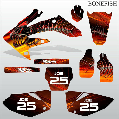 Honda CRF 250 2004 2005 BONEFISH motocross decals set MX graphics kit