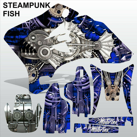 Yamaha WR 250F 450F 2005-2006 STEAMPUNK FISH motocross decals set MX graphics