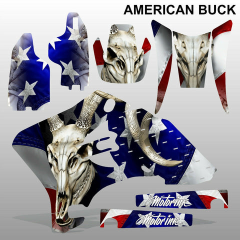 Yamaha WR 250F 450F 2005-2006 AMERICAN BUCK motocross decals set MX graphics kit
