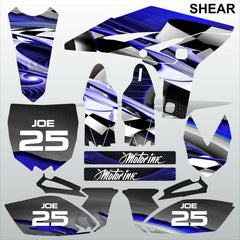 Yamaha YZF 250 2010-2012 SHEAR motocross racing decals set MX graphics kit