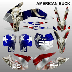 KTM EXC 2014 AMERICAN BUCK motocross decals racing stripes set MX graphics kit
