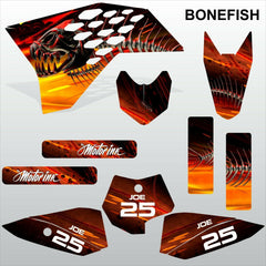 KTM SX 50 2009-2013 BONEFISH motocross racing decals stripe set MX graphics kit