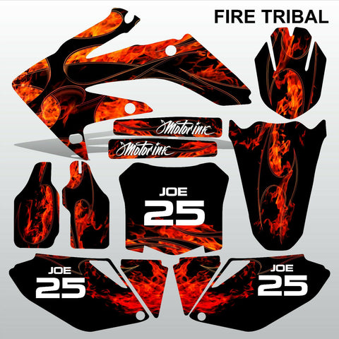 Honda CRF 250 2008-2009 FIRE TRIBAL race motocross decals MX graphics kit