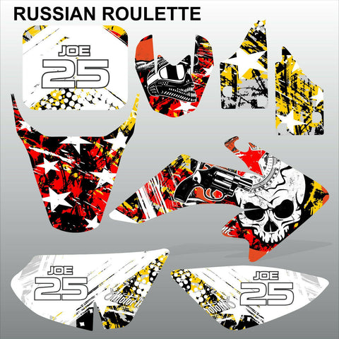 Honda CRF 50 2004-2016 RUSSIAN ROULETTE motocross decals set MX graphics kit