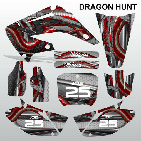 Honda CR125 CR250 2002-2007 DRAGON HUNT motocross decals set MX graphics kit