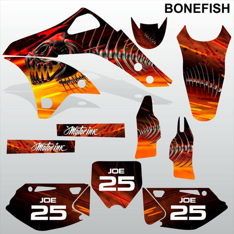 Kawasaki KXF 250 2006-2008 BONEFISH motocross decals set MX graphics kit