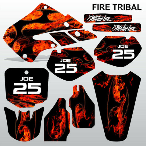 Honda CR125 CR250 1998 1999 FIRE TRIBAL motocross decals set MX graphics kit