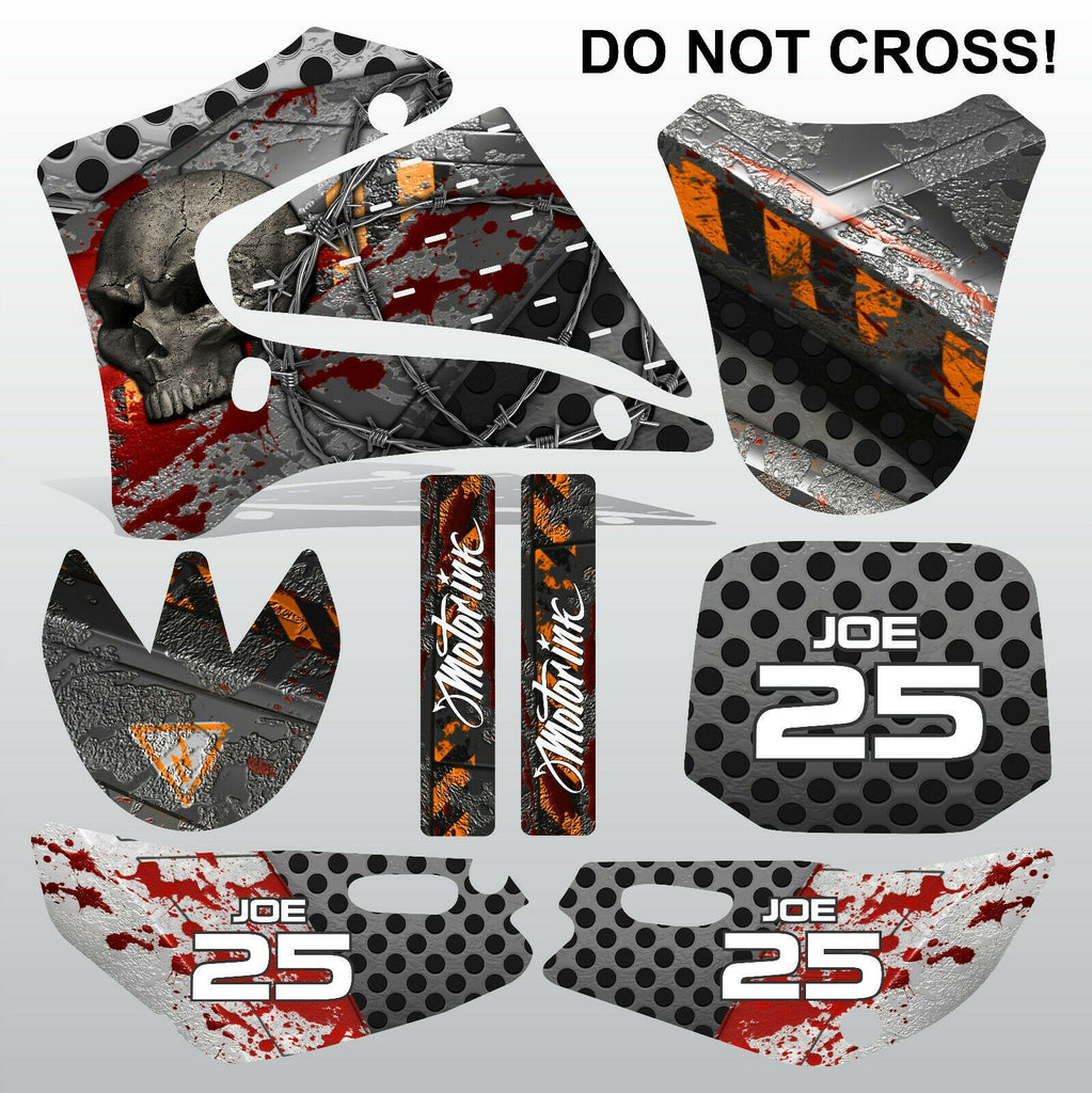 Yamaha TTR125 2000-2007 DO NOT CROSS motocross racing decals set MX graphics