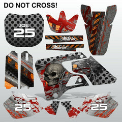Yamaha YZ 125 250 1996-2001 DO NOT CROSS motocross decals set MX graphics kit