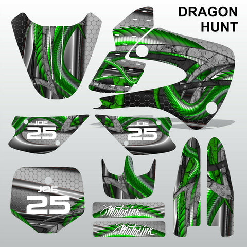 Kawasaki KX 85-100 2001-2012 DRAGON HUNT motocross decals set MX graphics kit