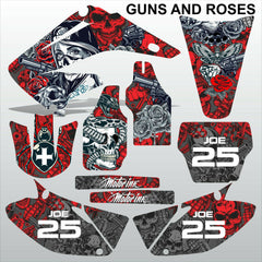 Honda CR125 CR250 2008-2012 GUNS AND ROSES motocross decals set MX graphics kit