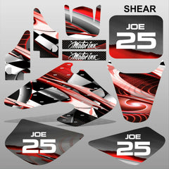 Honda XR 50 2000-2003 SHEAR motocross racing decals stripes set MX graphics