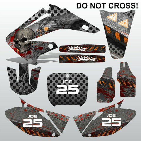 Honda CR125 CR250 2002-2007 DO NOT CROSS motocross decals set MX graphics kit