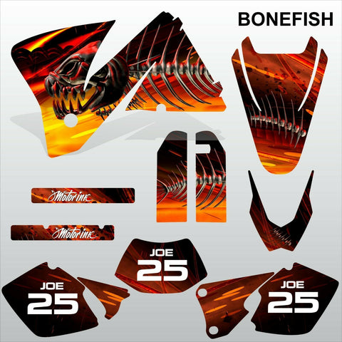 KTM EXC 2001-2002 BONEFISH motocross decals racing stripes set MX graphics kit