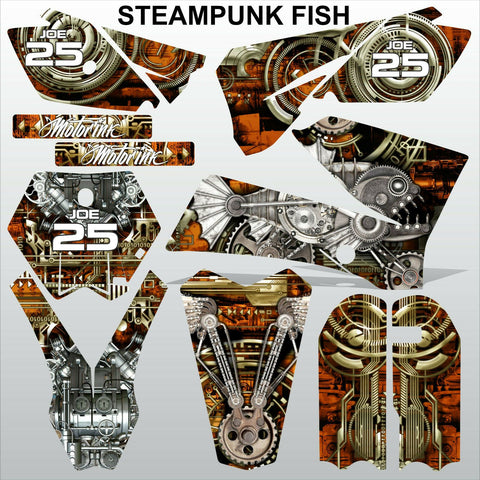 KTM SX 85-105 2006-2012 STEAMPUNK FISH motocross racing decals set MX graphics