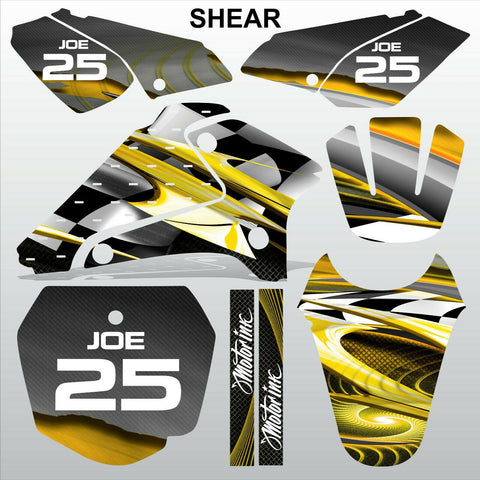 SUZUKI DRZ 125 2001-2007 SHEAR motocross racing decals set MX graphics kit