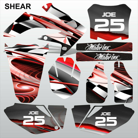 Honda CRF 250 2008-2009 SHEAR racing motocross decals set MX graphics kit